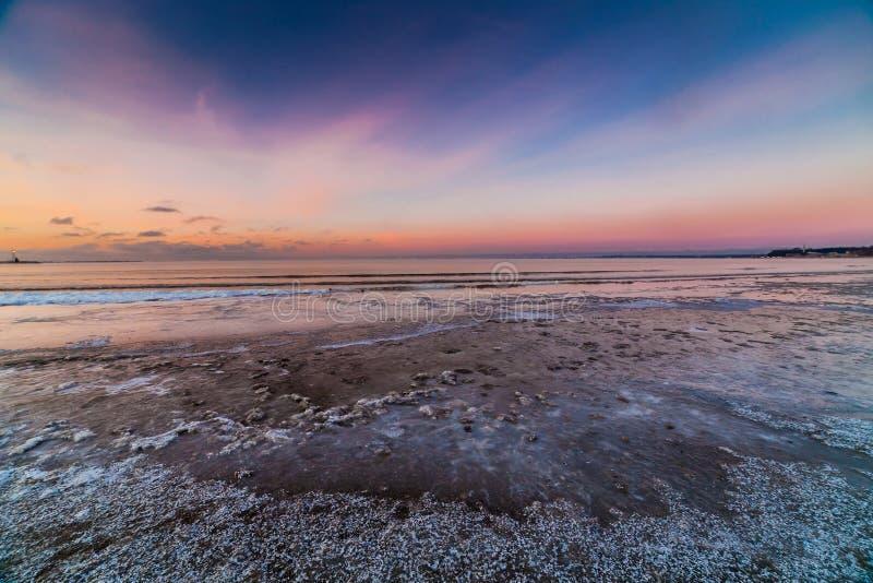 Η χειμερινή θάλασσα της Βαλτικής, Ταλίν στοκ φωτογραφίες με δικαίωμα ελεύθερης χρήσης