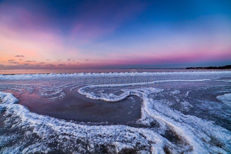 Η χειμερινή θάλασσα της Βαλτικής στοκ εικόνα