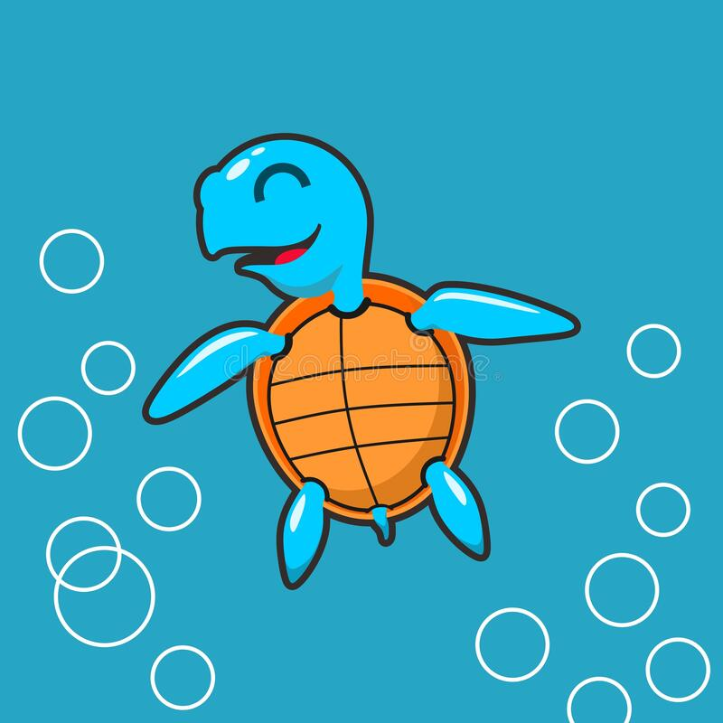 Η χελώνα στη θάλασσα εμπνέει τον χαρακτήρα στοκ φωτογραφίες