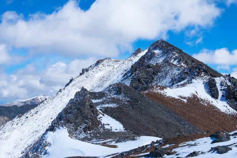 Η χιονώδης αιχμή στοκ εικόνες