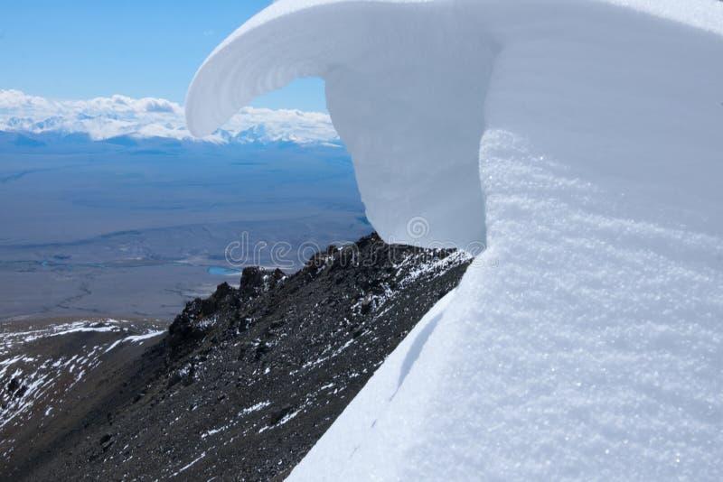 Η χιονώδης αιχμή στοκ φωτογραφία με δικαίωμα ελεύθερης χρήσης
