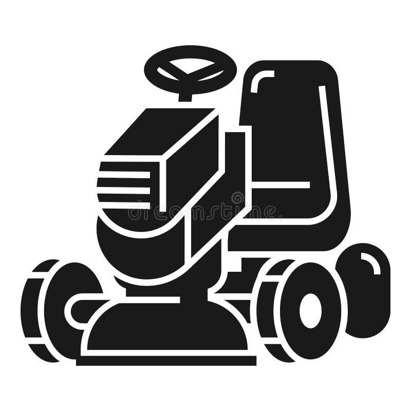 Η χλόη έκοψε το εικονίδιο μηχανών, απλό ύφος διανυσματική απεικόνιση