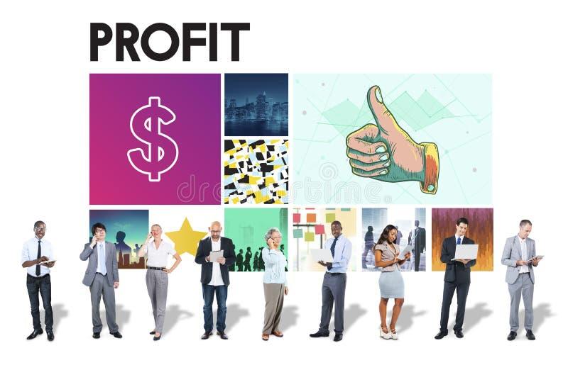 Η χρηματοπιστωτική συναλλαγή νομίσματος δολαρίων επενδύει την έννοια επιτυχίας στοκ εικόνες
