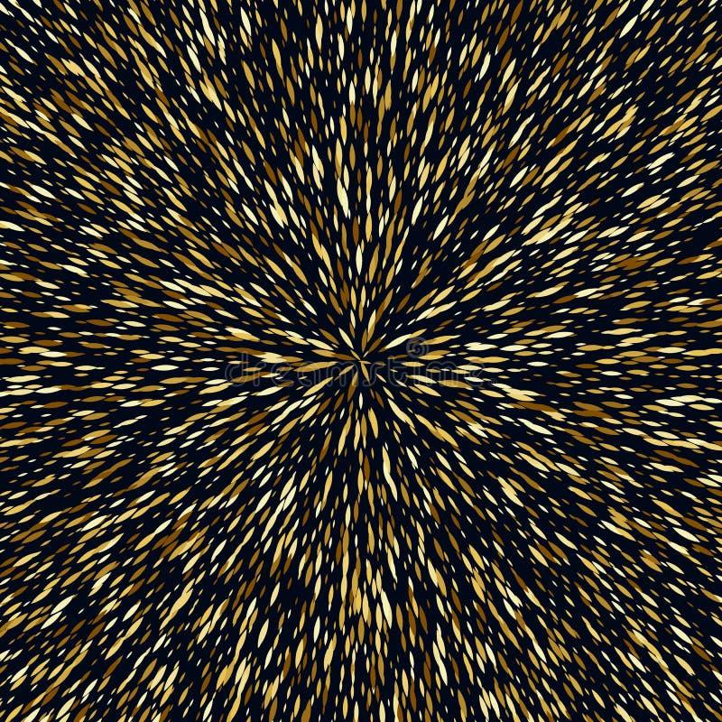 Η χρυσή έκρηξη τσεκιών ακτινοβολεί πρότυπο υποβάθρου απεικόνιση αποθεμάτων