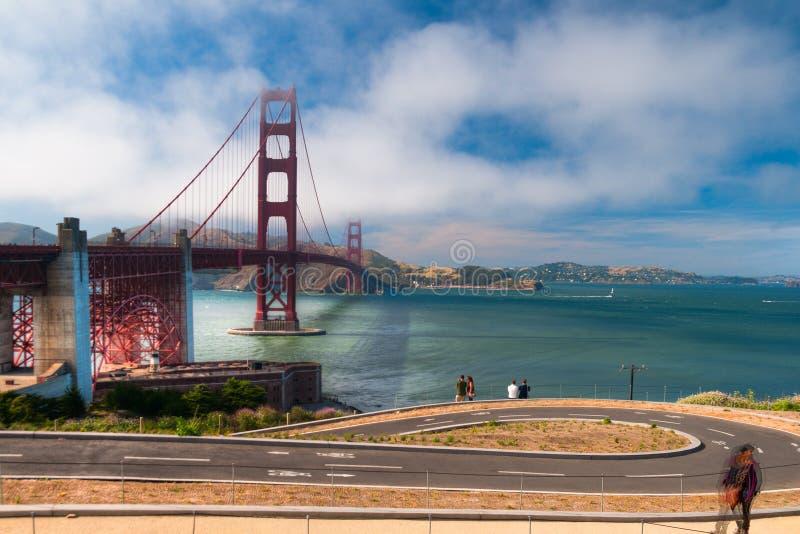 Η χρυσή γέφυρα πυλών στοκ φωτογραφίες