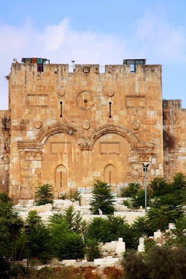 Η χρυσή πύλη ή πύλη του ελέους, Ιερουσαλήμ, Ισραήλ στοκ εικόνα με δικαίωμα ελεύθερης χρήσης