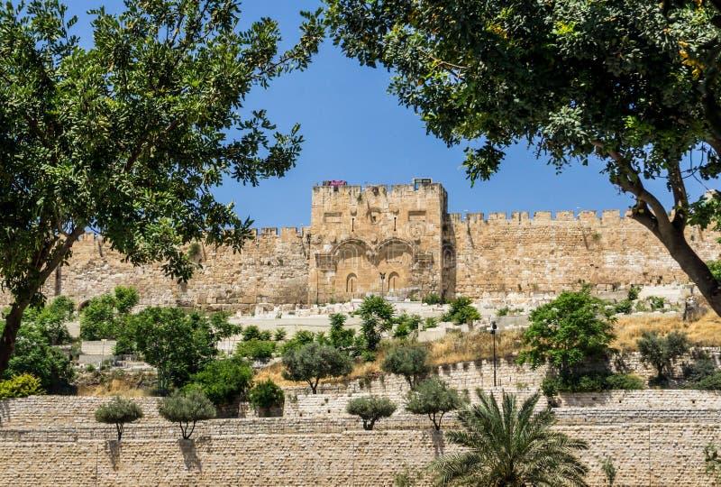 Η χρυσή πύλη στην Ιερουσαλήμ, Ισραήλ στοκ εικόνες