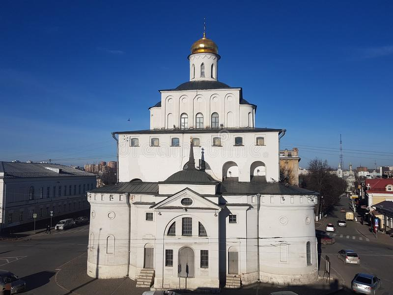 Η χρυσή πύλη του Βλαντιμίρ που κατασκευάζεται μεταξύ 1158 και 1164, Ρωσία στο χρυσό δαχτυλίδι της Ρωσίας στοκ φωτογραφίες με δικαίωμα ελεύθερης χρήσης
