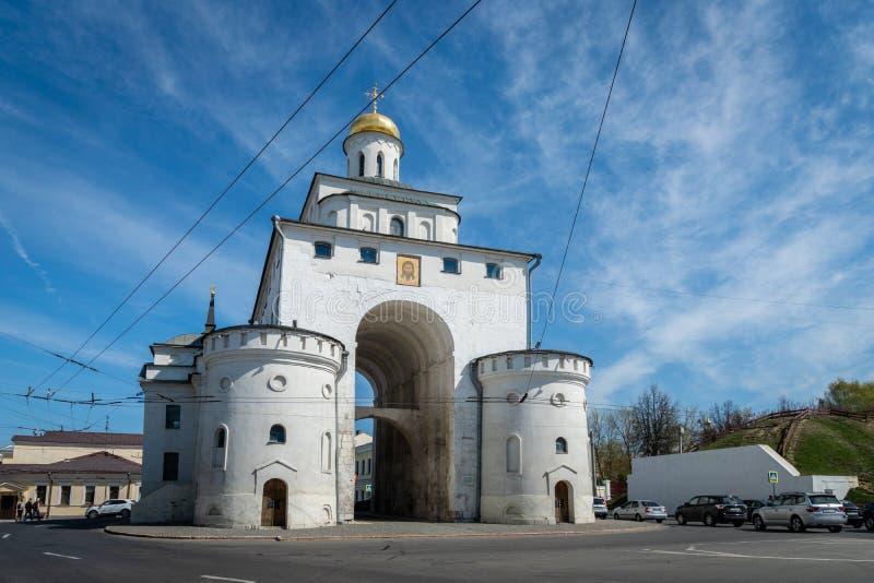Η χρυσή πύλη του Βλαντιμίρ στο Βλαντιμίρ, Ρωσία στοκ εικόνες