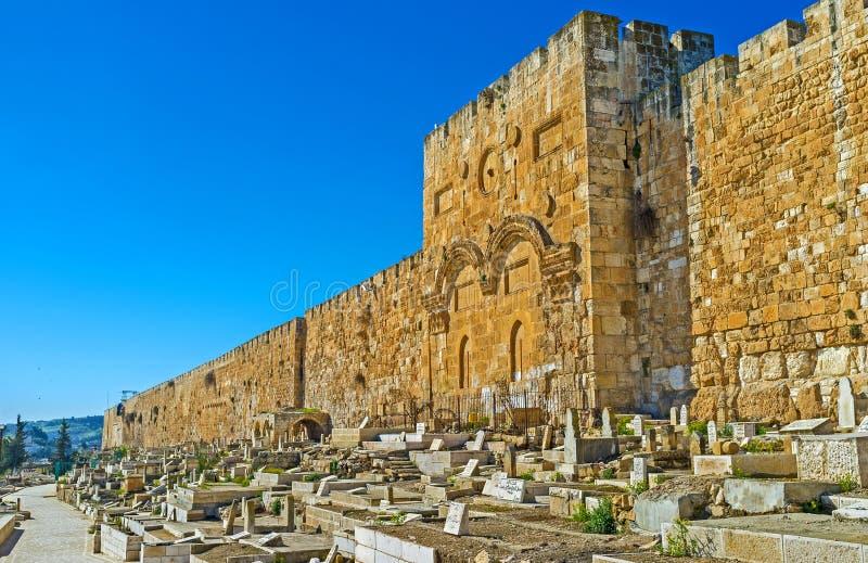 Η χρυσή πύλη της Ιερουσαλήμ στοκ φωτογραφίες