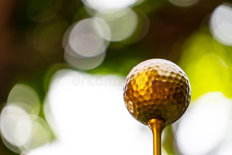 Η χρυσή σφαίρα γκολφ είναι ο παγκόσμιος μεγαλύτερος αθλητισμός στοκ φωτογραφίες