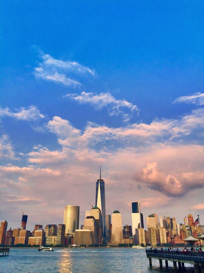 Η χρυσή ώρα NYC στοκ εικόνες με δικαίωμα ελεύθερης χρήσης