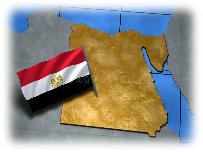 η χώρα Αίγυπτος σημαιοστ&omi απεικόνιση αποθεμάτων