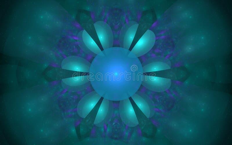 Η ψηφιακή παραγμένη εικόνα υπό μορφή αφηρημένων γεωμετρικών μορφών των διάφορων σκιών και τα χρώματα για τη χρήση στον Ιστό σχεδι ελεύθερη απεικόνιση δικαιώματος