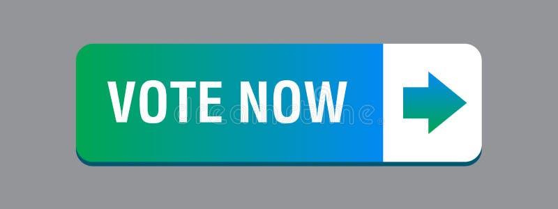 Η ψηφοφορία κουμπώνει τώρα πράσινο μικτό ελεύθερη απεικόνιση δικαιώματος