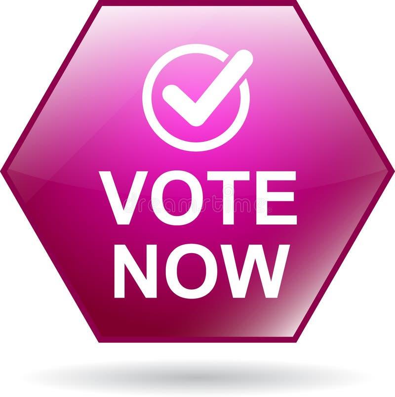 Η ψηφοφορία κουμπώνει τώρα το εικονίδιο ελεύθερη απεικόνιση δικαιώματος