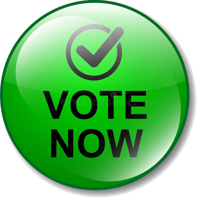 Η ψηφοφορία κουμπώνει τώρα το εικονίδιο διανυσματική απεικόνιση