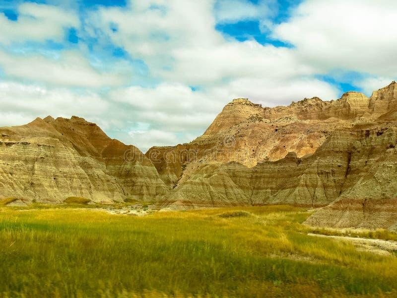 Η όμορφη άποψη του Badlands στη νότια Ντακότα στοκ φωτογραφία