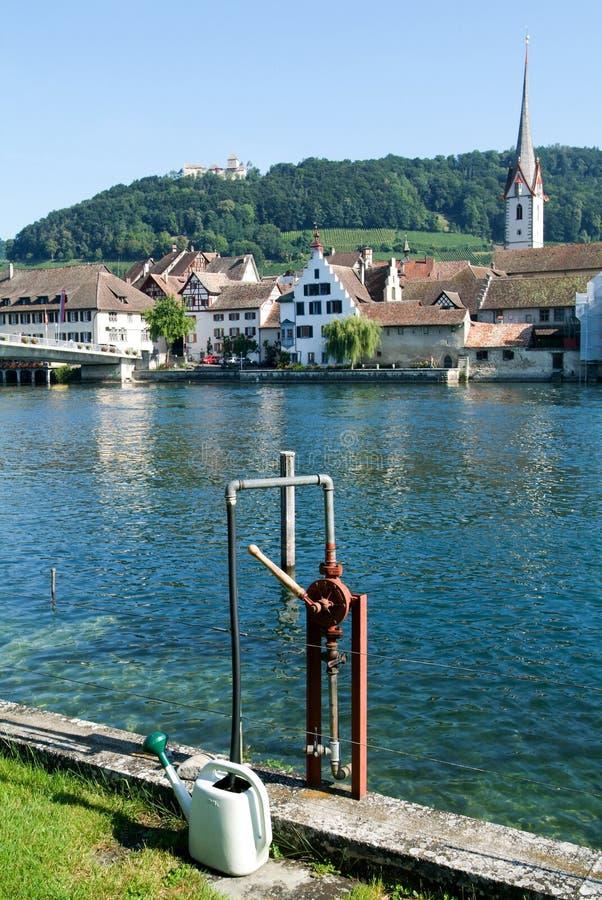 Η όμορφη μεσαιωνική πόλη Stein AM Ρήνος στοκ εικόνες με δικαίωμα ελεύθερης χρήσης