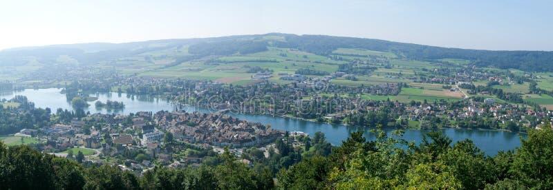 Η όμορφη μεσαιωνική πόλη Stein AM Ρήνος στοκ εικόνα