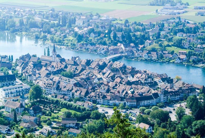 Η όμορφη μεσαιωνική πόλη Stein AM Ρήνος στοκ φωτογραφίες με δικαίωμα ελεύθερης χρήσης