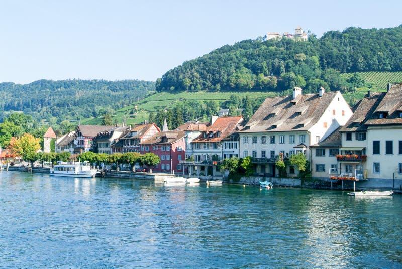Η όμορφη μεσαιωνική πόλη Stein AM Ρήνος στοκ φωτογραφία με δικαίωμα ελεύθερης χρήσης