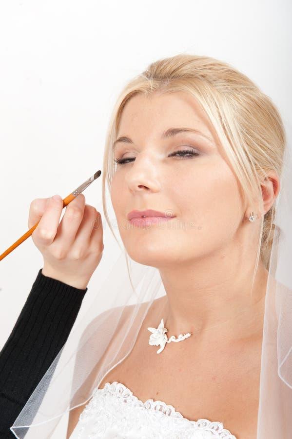 η όμορφη νυφική νύφη αποτελ&ep στοκ εικόνες