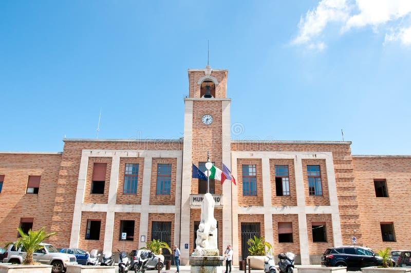 Η όμορφη οικοδόμηση της πόλης του vibo Valentia στην Καλαβρία στοκ φωτογραφία με δικαίωμα ελεύθερης χρήσης
