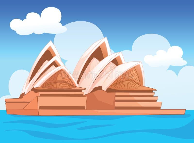 Η Όπερα του Σίδνεϊ, αυστραλιανή απεικόνιση στοκ φωτογραφία