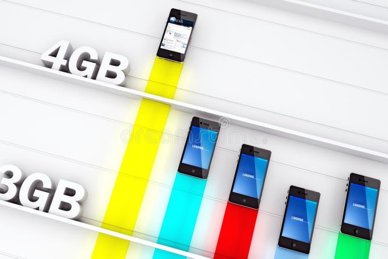 Η δύναμη 4G στοκ φωτογραφία με δικαίωμα ελεύθερης χρήσης
