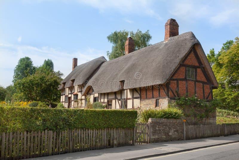 Η Anne Hathaway (σύζυγος του William Shakespeare) το εξοχικό σπίτι στοκ εικόνα