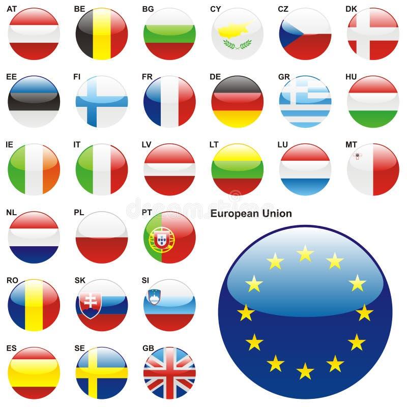η editable ΕΕ σημαιοστολίζει π&l στοκ φωτογραφίες