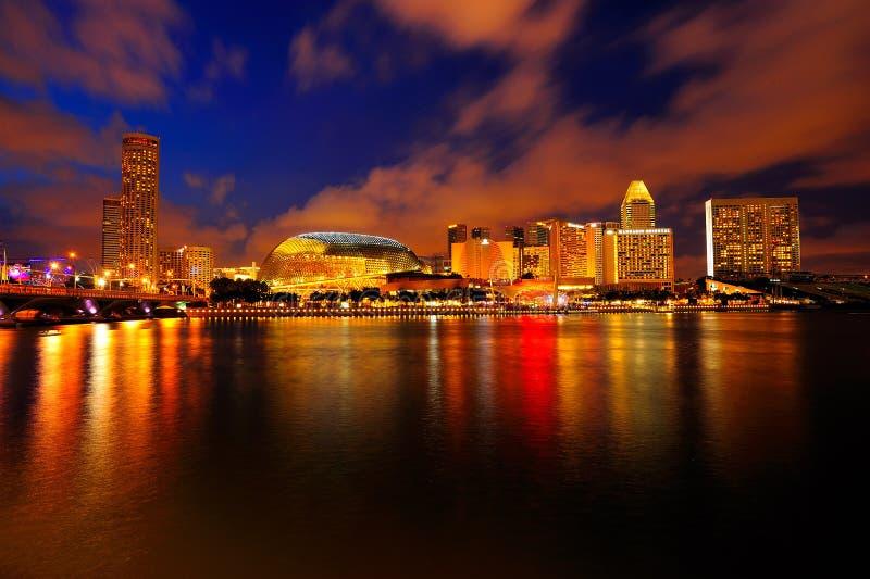 Η Esplanade & πόλεων όψη στοκ εικόνα με δικαίωμα ελεύθερης χρήσης