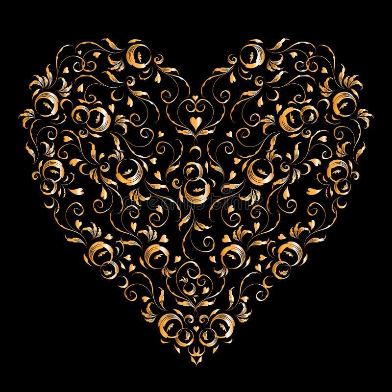 Download η Floral διακόσμηση καρδιών σχε& Διανυσματική απεικόνιση - εικονογραφία από περίκομψος, ανασκόπησης: 17050270