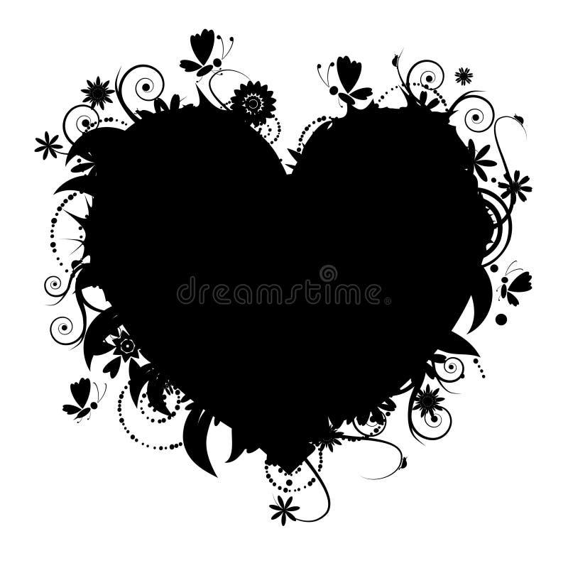 η floral καρδιά σχεδίου διαμο&r ελεύθερη απεικόνιση δικαιώματος