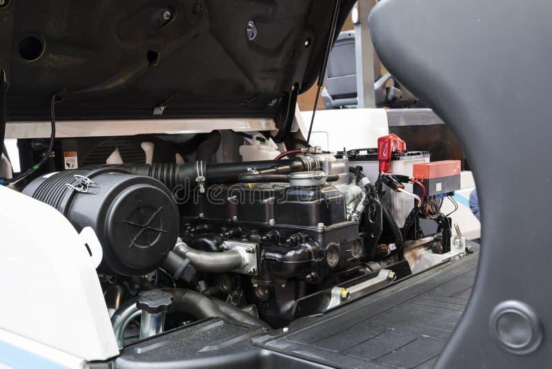 Η forklift μηχανή φορτηγών στοκ εικόνες