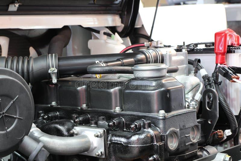Η forklift μηχανή φορτηγών στοκ εικόνα
