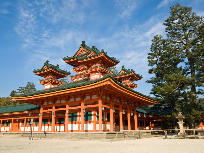 η heian λάρνακα jingu στοκ φωτογραφίες με δικαίωμα ελεύθερης χρήσης