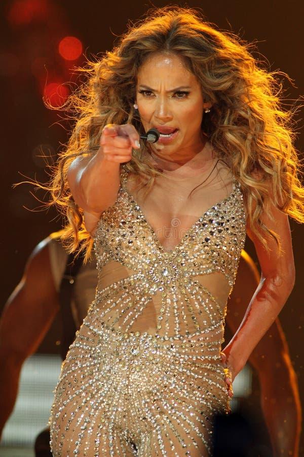 Η Jennifer Lopez αποδίδει στη συναυλία στοκ φωτογραφία με δικαίωμα ελεύθερης χρήσης