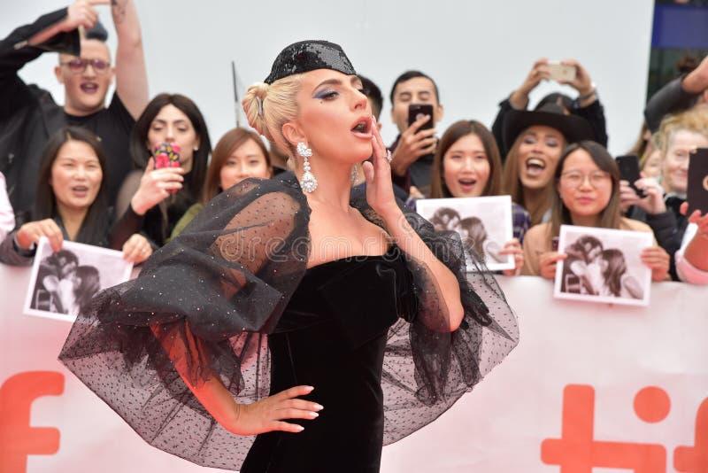 Η Lady Gaga στη πρεμιέρα ενός αστεριού γεννιέται στο διεθνές φεστιβάλ το 2018 ταινιών του Τορόντου στοκ φωτογραφία με δικαίωμα ελεύθερης χρήσης