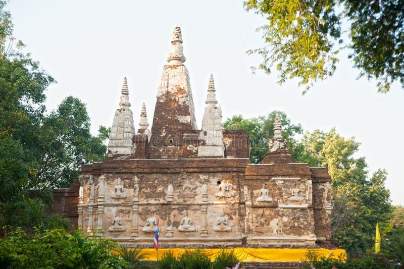 Η Maha Chedi του ναού Wat Jhet Yot σε Chiang Mai, Ταϊλάνδη στοκ φωτογραφία με δικαίωμα ελεύθερης χρήσης
