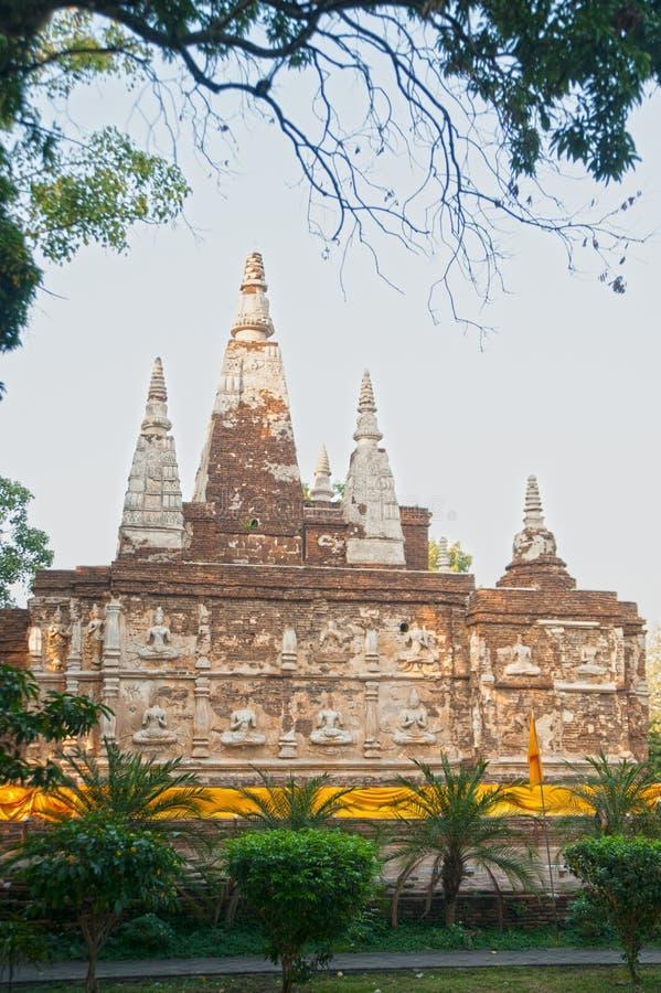 Η Maha Chedi του ναού Wat Jhet Yot σε Chiang Mai, Ταϊλάνδη στοκ εικόνα με δικαίωμα ελεύθερης χρήσης