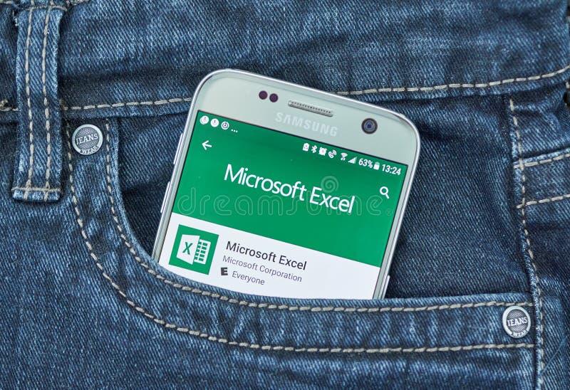 Η Microsoft υπερέχει κινητό app στοκ εικόνες με δικαίωμα ελεύθερης χρήσης