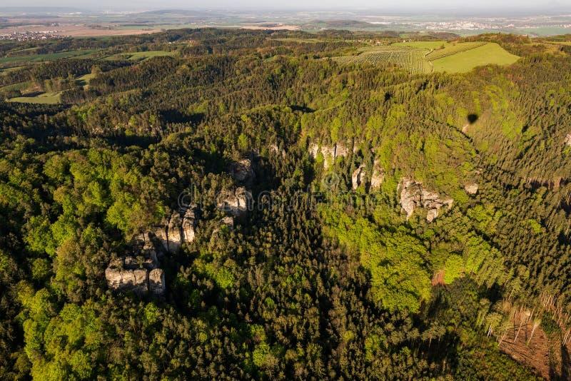 Η Prihrazske κρύβεται στον Παράδεισο των Βοημίων στην εναέρια φωτογραφία στοκ φωτογραφίες με δικαίωμα ελεύθερης χρήσης