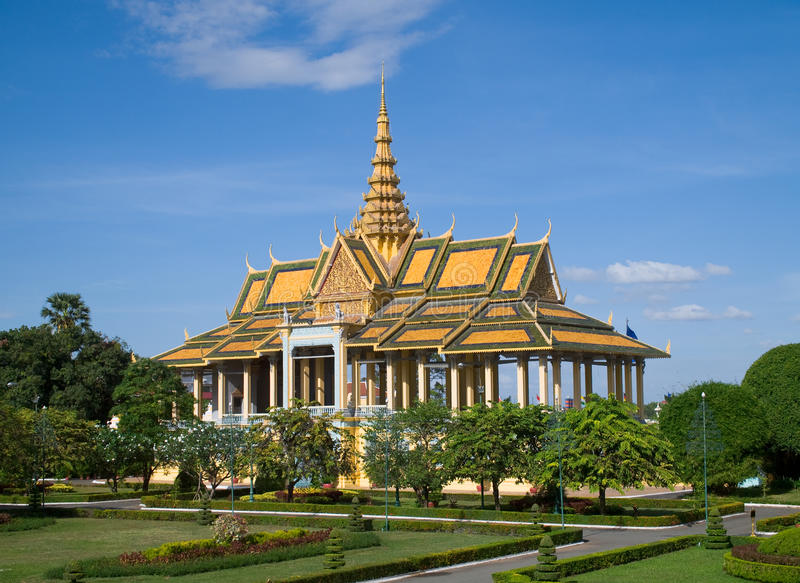 Η Royal Palace στη Πνομ Πενχ Στοκ Φωτογραφίες