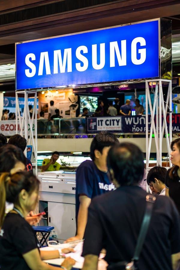 Η Samsung ενώνει την έκθεση στη Μπανγκόκ στοκ φωτογραφίες
