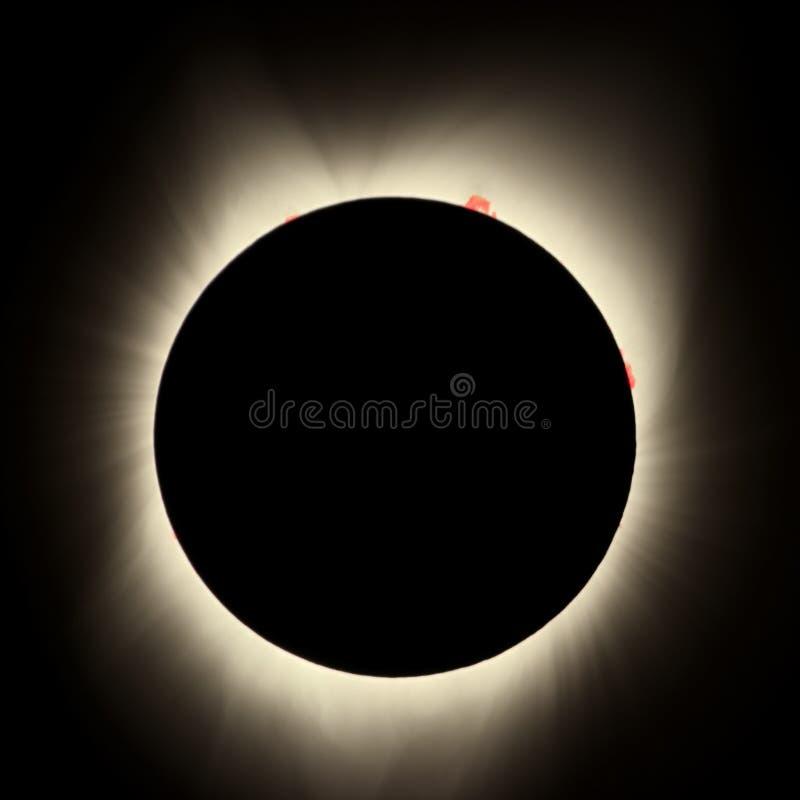 Η The Sun σκίασε εξ ολοκλήρου τη συνολική ηλιακή έκλειψη 2017 Αύγουστος-21, ΗΠΑ στοκ εικόνα