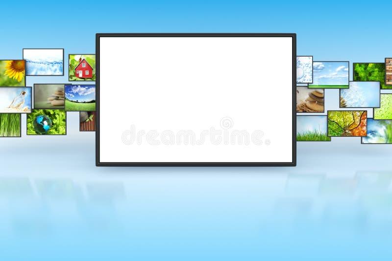 Η TV με τις εικόνες απεικόνιση αποθεμάτων
