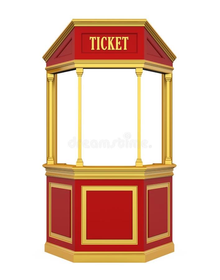 Θάλαμος καρναβάλι εισιτηρίων που απομονώνεται ελεύθερη απεικόνιση δικαιώματος