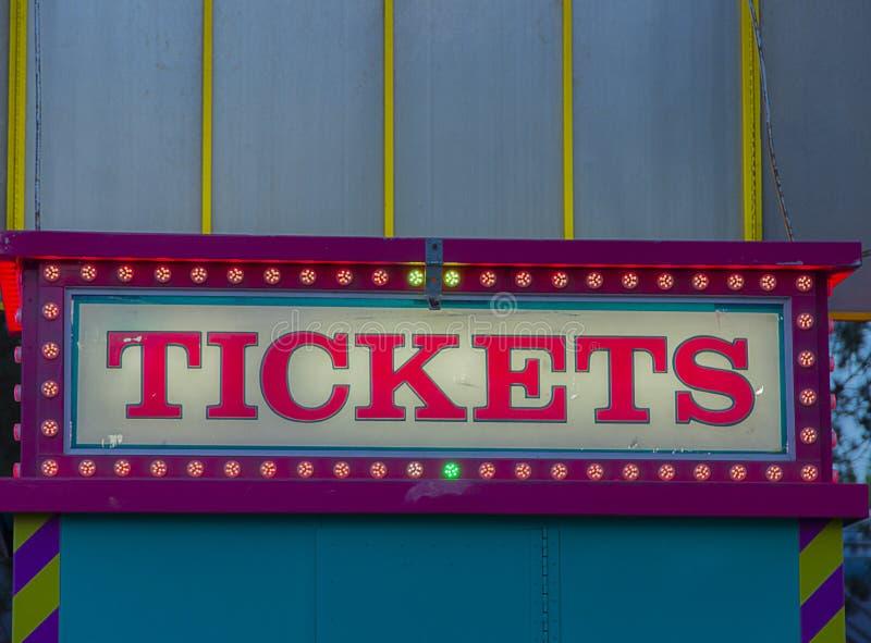 Θάλαμος κρατικών δίκαιος εισιτηρίων στοκ εικόνες